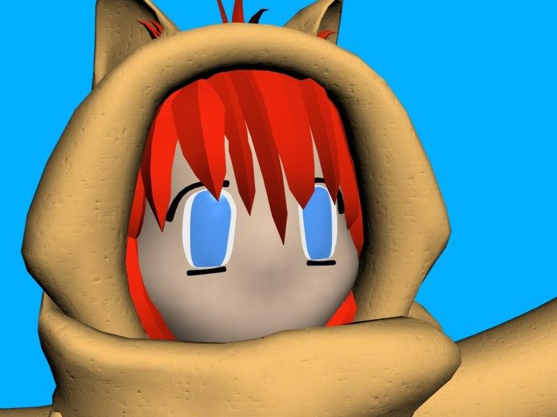 free cute girl 3d model