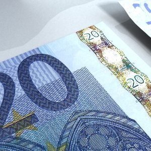 20 euros banknote - 3d 3ds