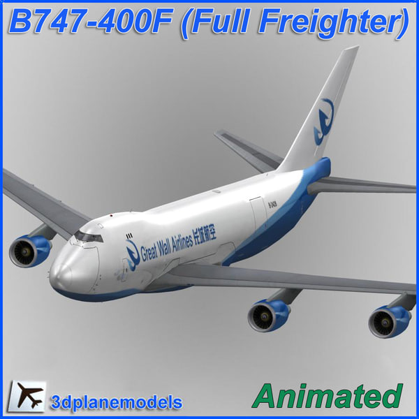 b747-400 great wall airlines 3d lwo