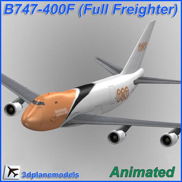 b747-400 tnt plane 747 3d 3ds