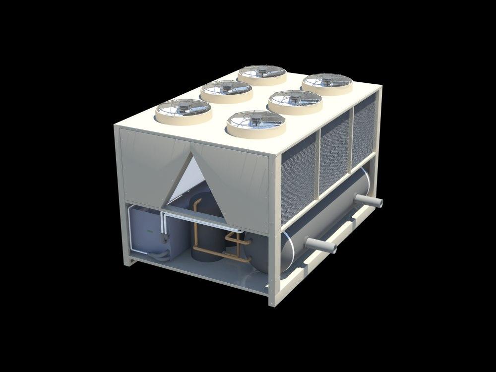 3d model air-cooled chiller