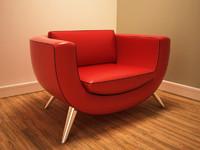 retro armchair 3d max