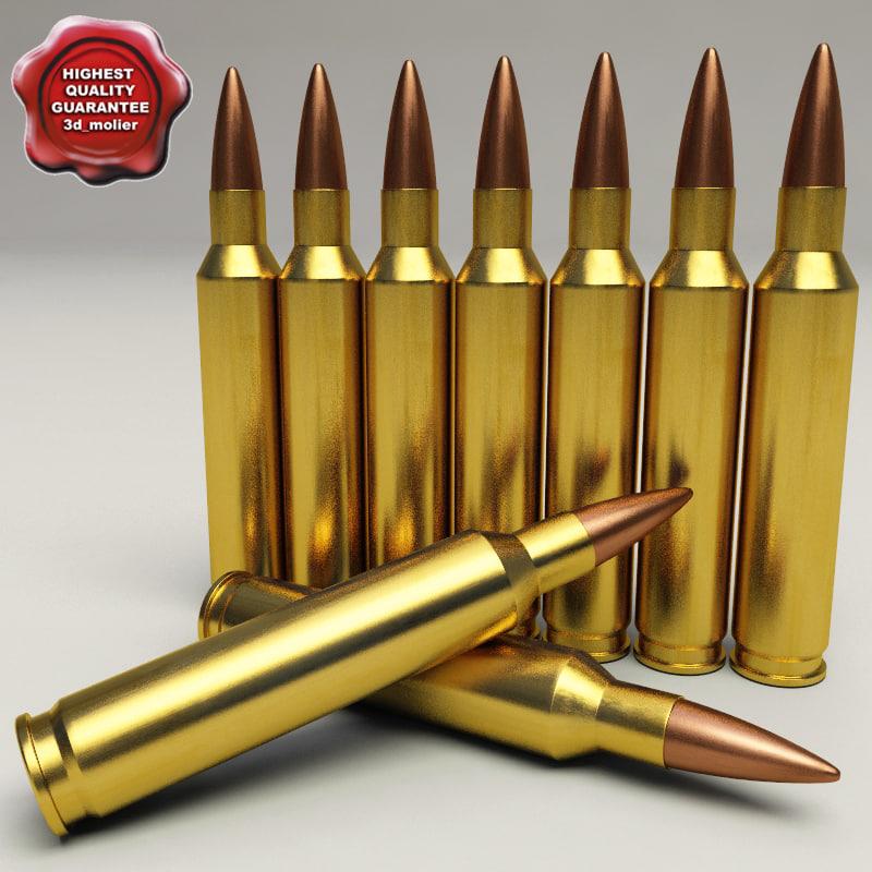 cartridge 5 56x45 3d model