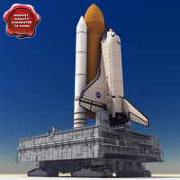3d model of crawler mobile launch platform