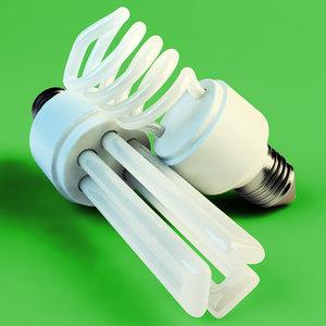 3ds max fluorescent light bulbs