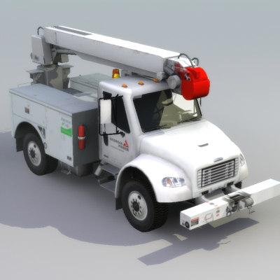 fl80 line truck drill 3d model