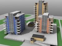 3d house skyscrape model