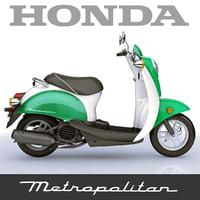 3dsmax scooter honda metropolitan 2010