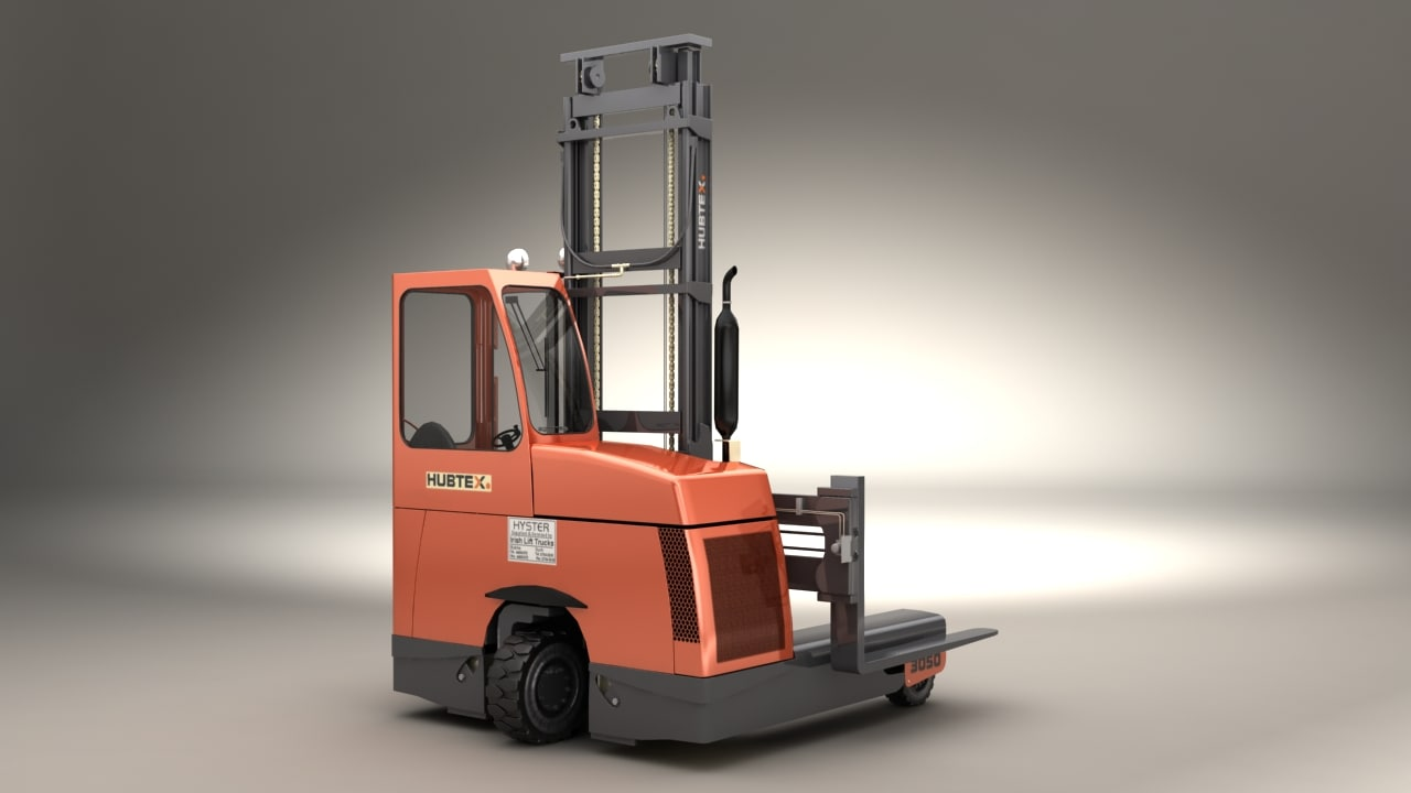 hubtex dq45-d forklift 3d model