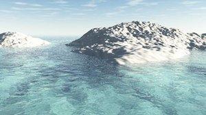 3ds max island terrain landscape