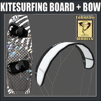 Kitesurfing Board and Bow