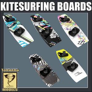 3d obj kitesurfing boards