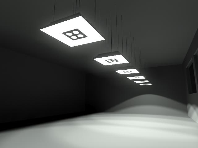 3d hanging light model