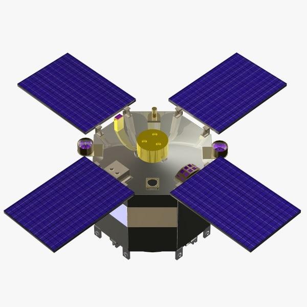 3d orbiting satellite cob model