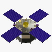 3d orbiting satellite cob model