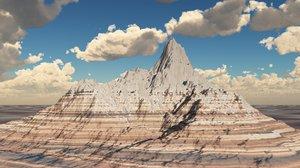 3d model mountain terrain landscape