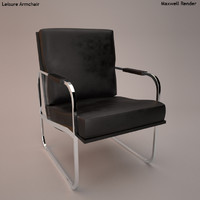 3d leisure armchair model