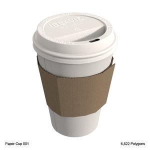 3d paper cup model