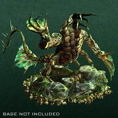 dominance deep sea crustacean 3d model