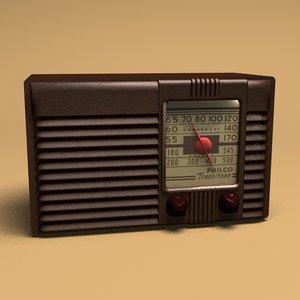 3d model philco antique radio