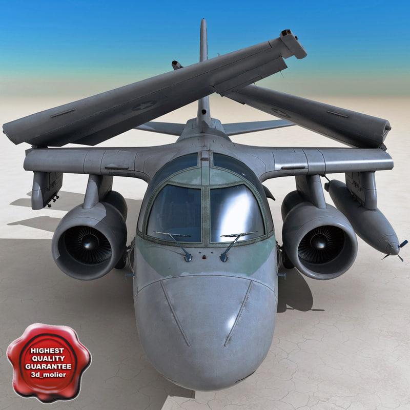 3d model s-3b viking aircraft