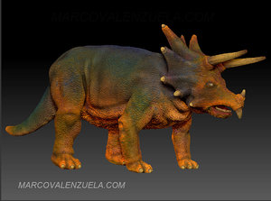triceratops normal maps obj