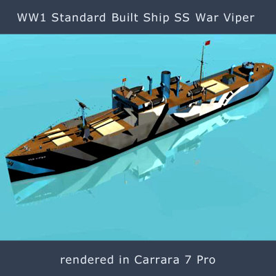 ss war viper cargo vessel 3d obj
