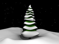 cartoony winter spruce tree 3ds