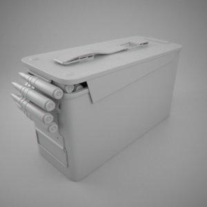 3d ammo box model