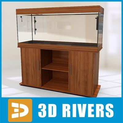 glass aquarium 3d model