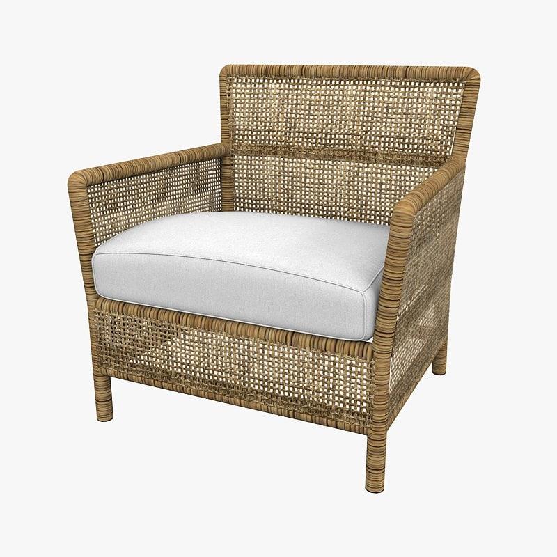 rattan armchair 3d max
