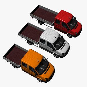 crewcab pickuptruck 3d model