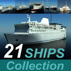 3d model ship 21 liner mod