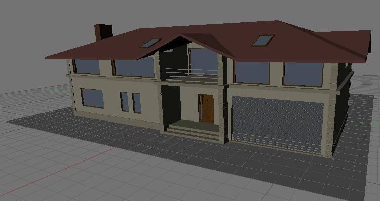 house uptown 3d model