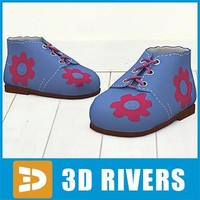 3d model kids shoes