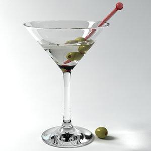 martini glass 3d model