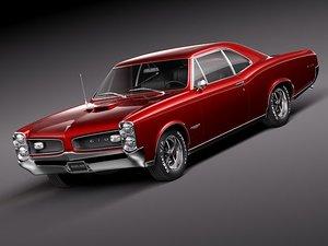 3d pontiac gto 1966 sport model