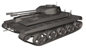 3ds military tank