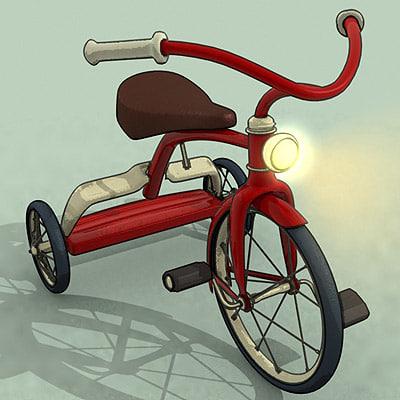 tricycle belleville rendezvous 3d 3ds