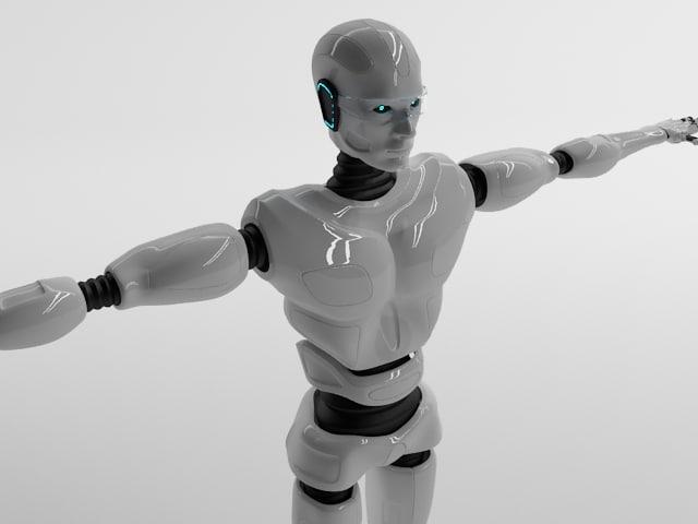3d robot bot man model