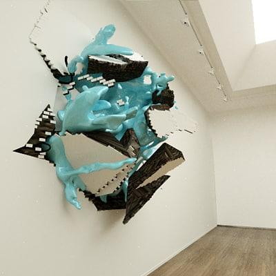 sculpture modern wall obj