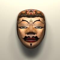 3d javanese mask