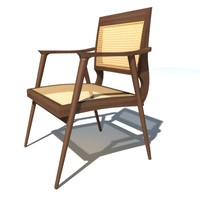 3d model bojonegoro armchair dining chair