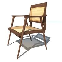 3d model bojonegoro armchair dining chair