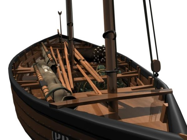 small fishing boat 3d model