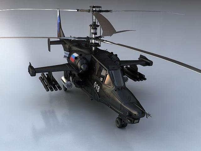 kamov helicopter 3d model