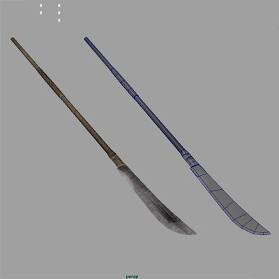 3d spear blade weapon