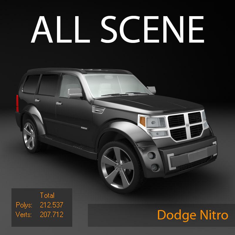 3d dodge nitro