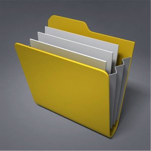 icon folder 3d model