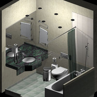 3d hotel bathroom fixtures